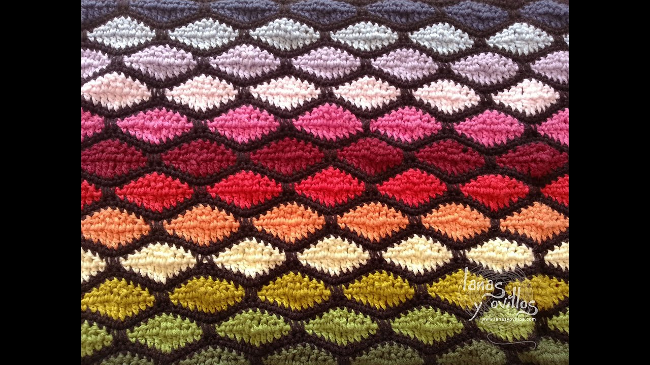 Crochet Stitches In Youtube : Tutorial Punto Ondas Crochet o Ganchillo Wave Stitch - YouTube