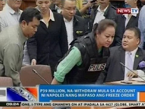 NTG: P39M, na-withdraw mula sa account ni Napoles nang mapaso ang freeze order