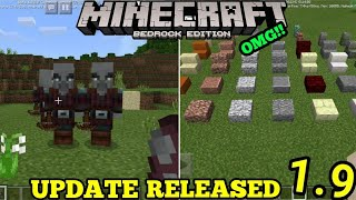 Minecraft Pe 1.9.0 | Mcpe 1.9.0 Build 1 Update Released!! + Full Review!!(pocket Edition)