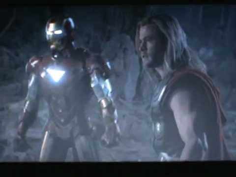 The avengers :  Battle Iron man vs Thor, Captain America