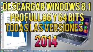 Como Descargar Windows 8.1 Pro Final Full 32 & 64 Bits