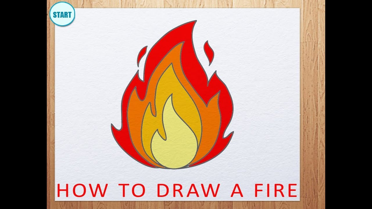 How To Draw A Fire How To Draw Flame Youtube