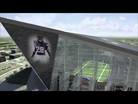 Fly Through the Minnesota Vikings New Stadium Design
