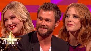 Chris Hemsworth, Jessica Chastain and Kirsten Dunst Share Animal Stories - The Graham Norton Show