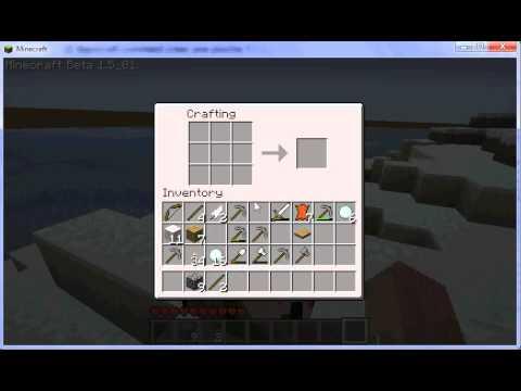 Minecraft Comment Cr Er Une Hache Youtube