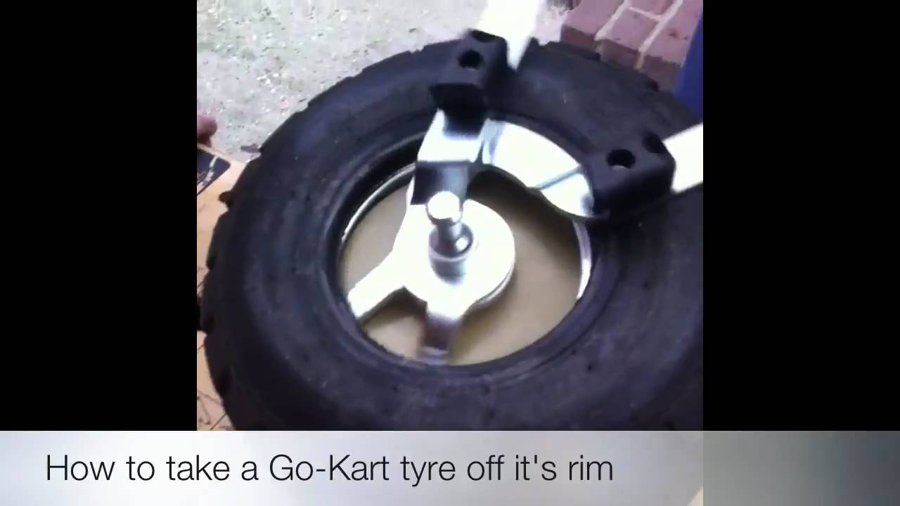 how to take a go kart tyre off it 39 s rim youtube. Black Bedroom Furniture Sets. Home Design Ideas