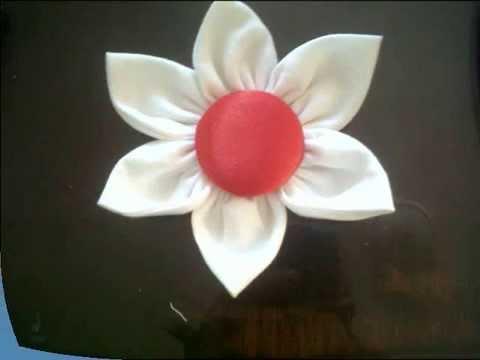 Tutorial como hacer una flor en tela youtube - Como hacer cuadros de tela ...