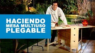 Construir mesa multiuso plegable