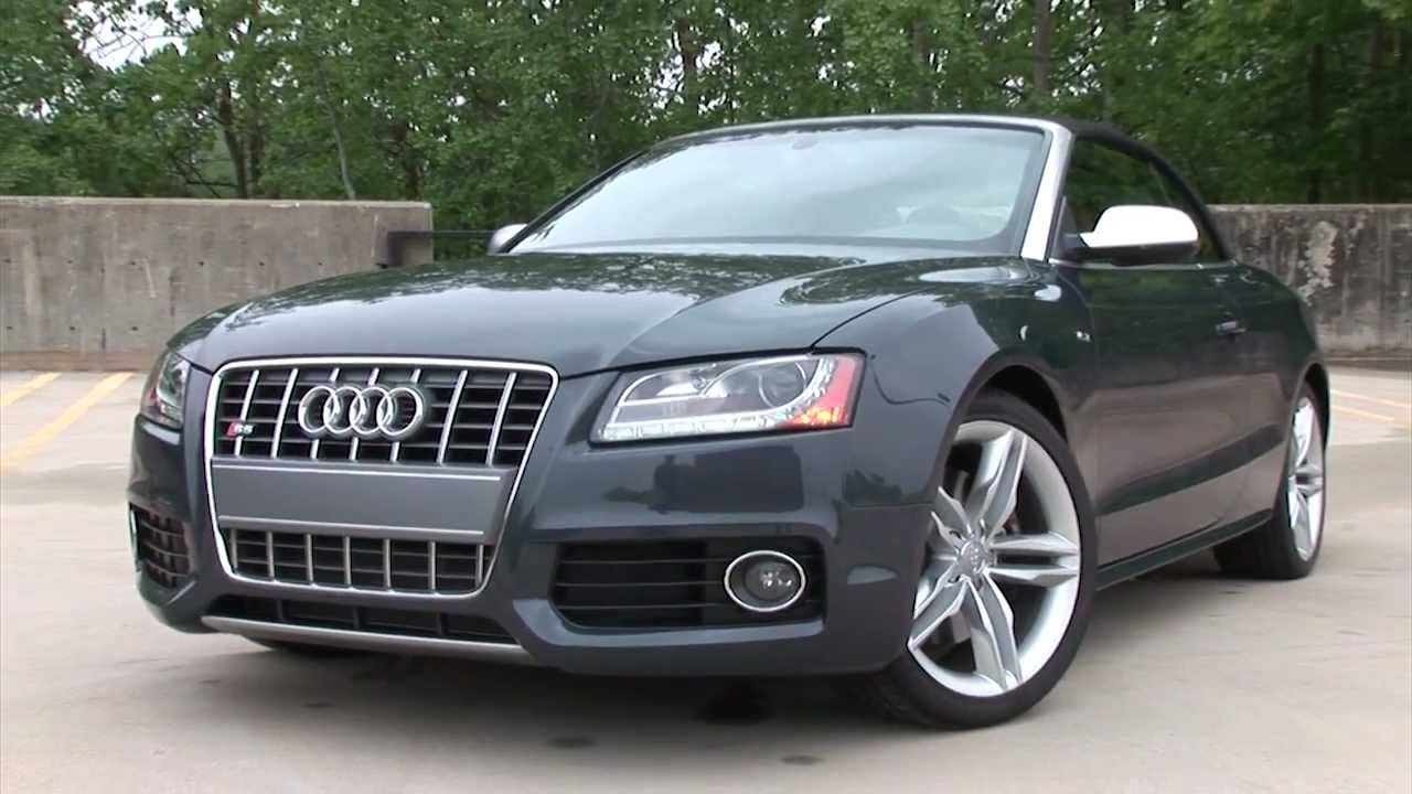 2011 audi s5 cabriolet drive time review youtube