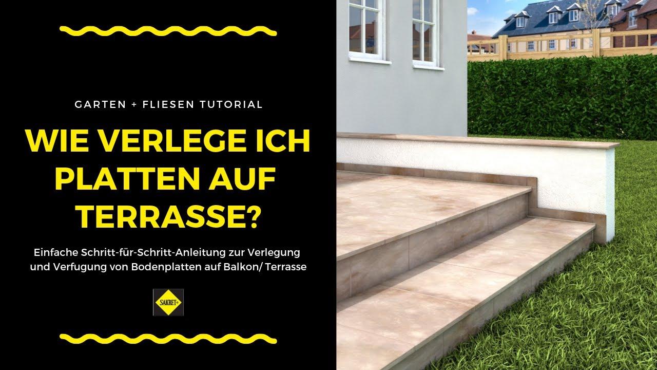 bodenfliesen bodenplatten auf balkonen und terrassen verlegen und verfugen sakret heimwerker. Black Bedroom Furniture Sets. Home Design Ideas