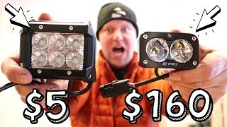 CHEAP vs. EXPENSIVE: LED Pod Lights (Unboxing)