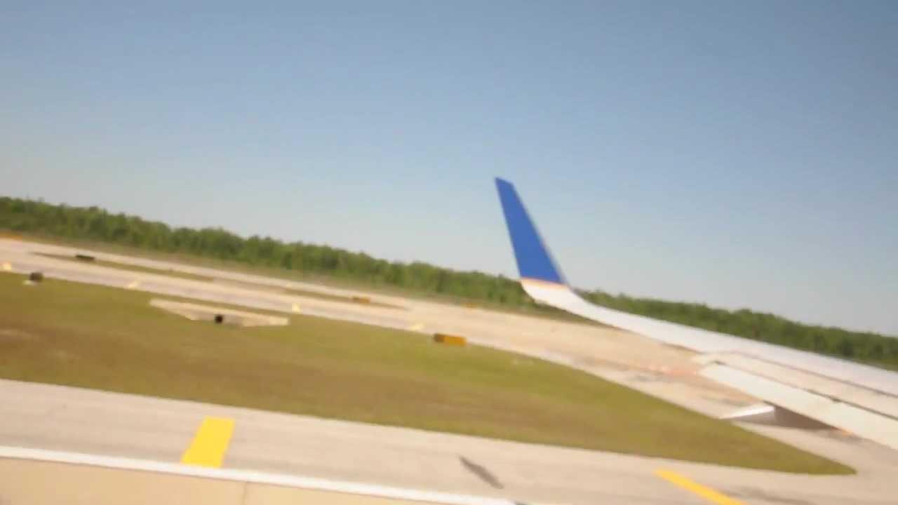 United Airlines UA1034 Orlando FL to Houston TX Take off ...