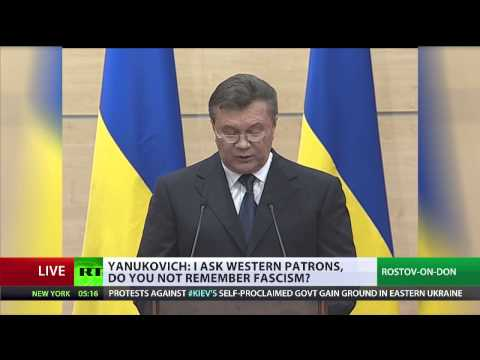 Yanukovich: I'm alive, I'm still president, I'll be back (FULL STATEMENT)