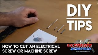 How to cut a socket screw or machine screw