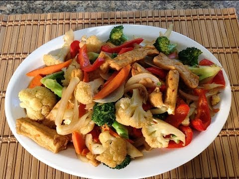 How To Cook Tofu With Vegetables-Stir Fry-Vegetarian Recipes