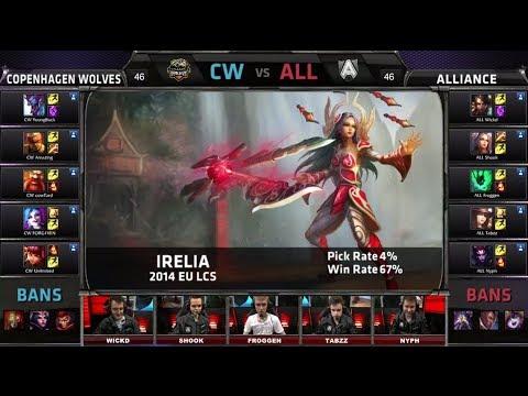 Copenhagen Wolves vs Alliance | Season 4 EU LCS Spring split 2014 Super Week W8D2 G2 | CW vs ALL