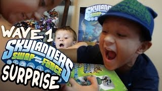 Skylanders Swap Force Wave 1 Toys Surprise & Unboxing