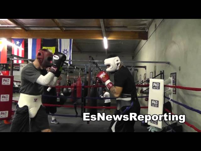 sparring in oxnard at the robert garcia boxing academy EsNews Boxing
