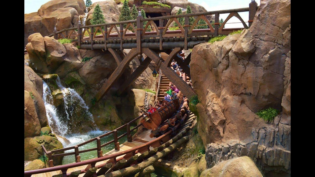 7 dwarfs mine train coaster pov
