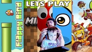 2 Year Old Chase Plays Flappy Bird, My Boo, Minecraft