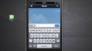 LINE combinacion perfecta de whatsapp y viber . Gratis. Iphone android .