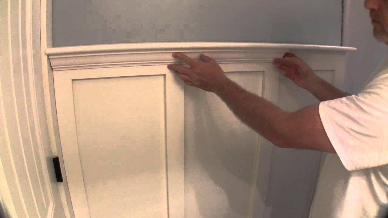 Build simple bathroom wainscot pt 2 youtube