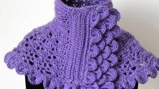 Crochet : Cuello En Morado #1. Parte 5