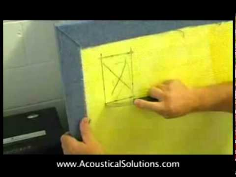 How To Make Cutouts on an Acoustical Wall Panel