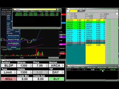 $BLDP - Live Stock Trade - Partial Fill Frustrations