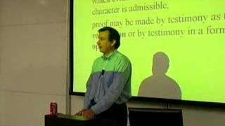 LECTURES: Professor Tom Lyon's Evidence Class 3/26/07