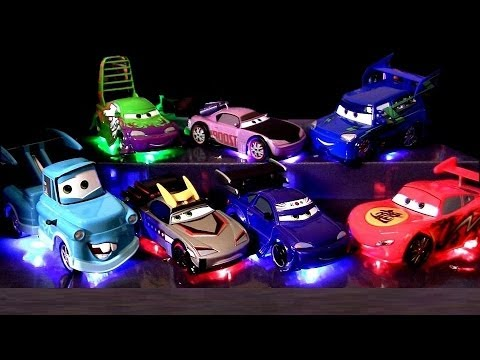 7 Cars Light Up Tuners Cars Toons Tokyo Mater Deluxe