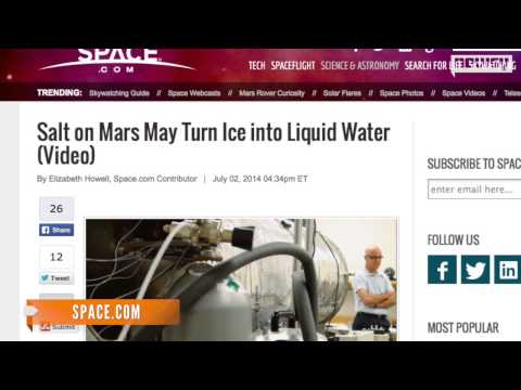 Mars Liquid Theory Apparently Holds Water, Evidence Suggests