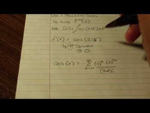 Finding Nth Derivative of Function at 0 Using MacLaurin Series