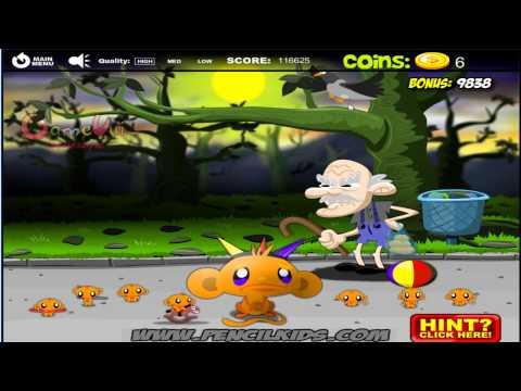 Hướng dẫn chơi game Chú khỉ buồn 9 - MONKEY GO HAPPY MARATHON 4