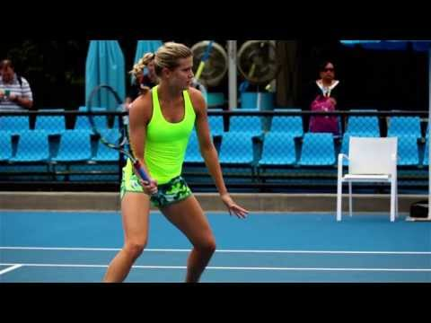 Eugenie Bouchard practice session - 2014 Australian Open