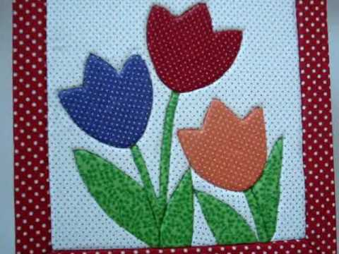 Eugênia Bolzan: As Tulipas no Patchwork Embutido