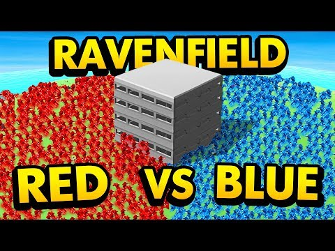 INCREDIBLE FORT DEFENSE *RED vs BLUE* IN Ravenfield (Ravenfield Funny Gameplay)