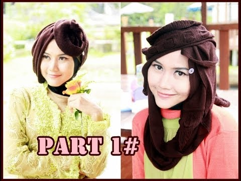 2 Of 13 Hijab Styles: VEMOS FLOWER Series by Didowardah #1 | Modern Hijab Tutorial 2014