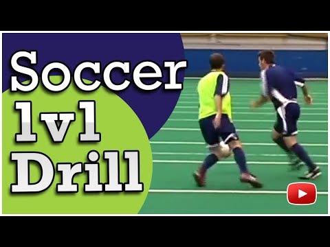 Soccer Attacking Tactics - The 1v1 Drill - Coach Joe Luxbacher