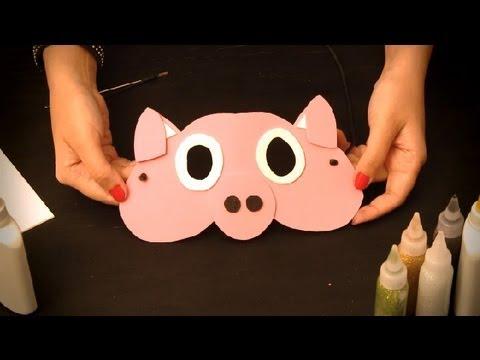Como hacer una mascara de cerdito en foami - Imagui