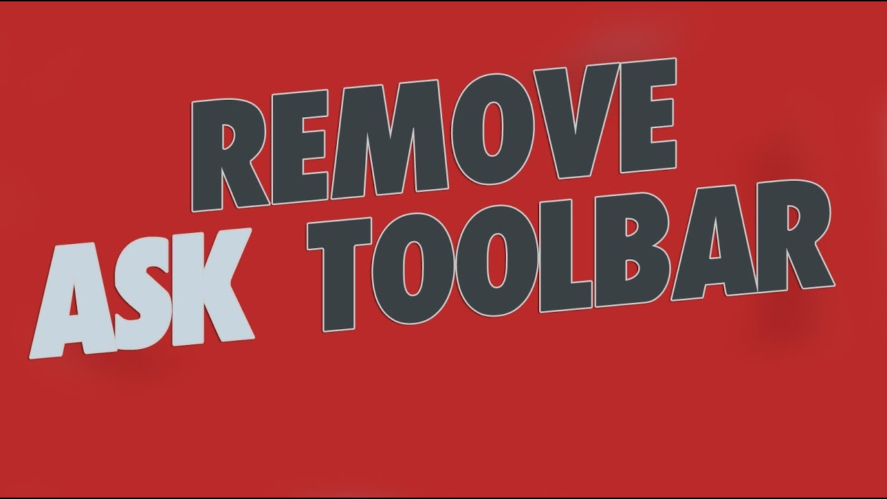 how to remove ask toolbar notifier