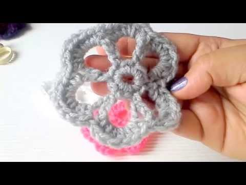 Simple Crochet flowers in 3 minutes!!!