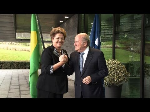Blatter gives Rousseff vote of confidence for World Cup