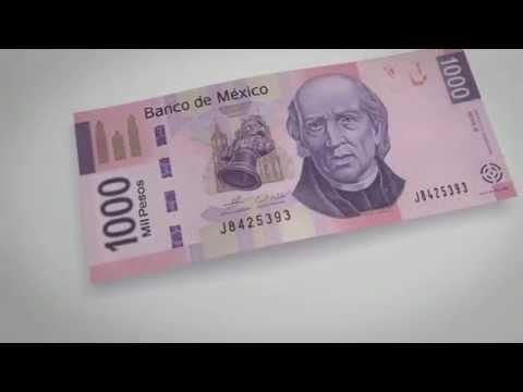 Billete de 1000 pesos (tipo F) - elementos de seguridad I