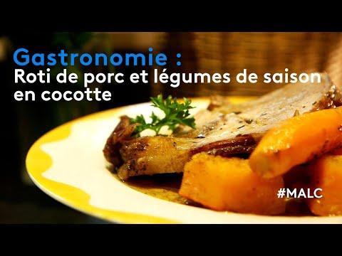 Gastronomie : rôti de porc et légumes de saison en cocotte