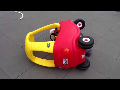 Little Tikes Cozy Coupe Car Crash - Rollover HUGE