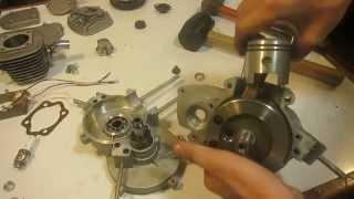 Desarmado de motor 80cc 2t de bicimoto
