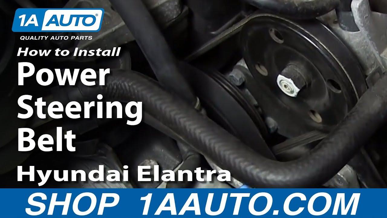 how to change power steering belt
