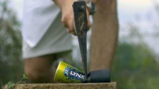 Axe Through a Deodorant Can - The Slow Mo Guys