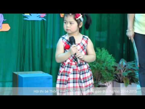 Hội thi bé Thông minh - Nhanh trí (mẫu giáo Đức Nghĩa) 2014-2015